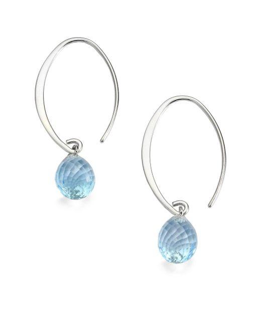 Saks Fifth Avenue | Blue Topaz & Sterling Silver Arc Earrings | Lyst