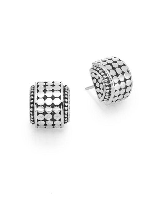 John Hardy | Metallic Dot Sterling Silver Hi-way Earrings | Lyst