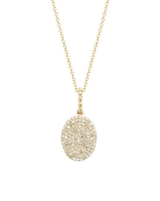KC Designs - Metallic Diamond 14k White Gold Oval Pendant Necklace - Lyst