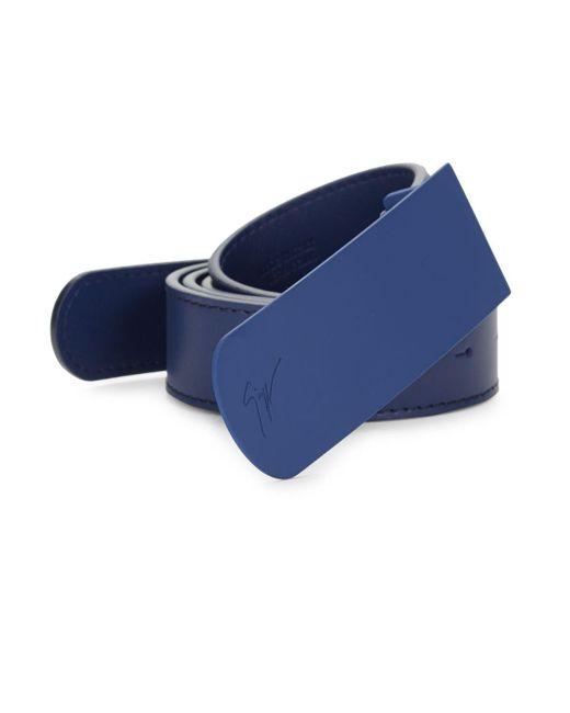 Giuseppe Zanotti - Blue Classic Leather Belt - Lyst