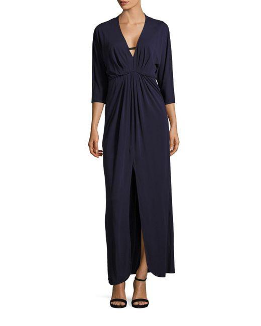 Trina Turk - Blue Haute Havana Slit-front Dress - Lyst
