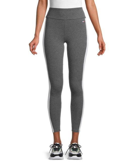 Tommy Hilfiger Multicolor Women's High-waist Stretch-cotton Leggings - Storm Heather - Size Xl