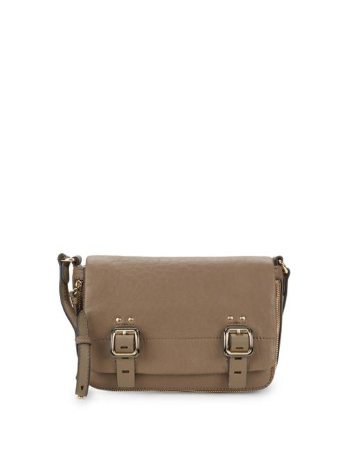 Vince Camuto - Brown Delos Leather Crossbody Bag - Lyst