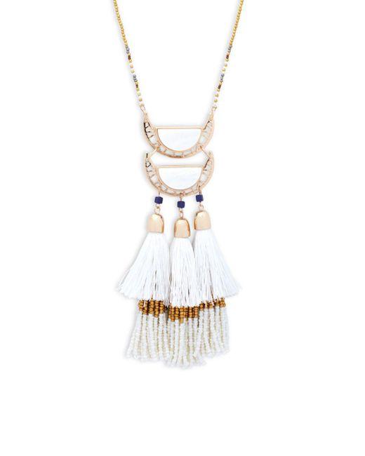 Saks Fifth Avenue   Multicolor Goldtone Tassel Pendant Necklace   Lyst