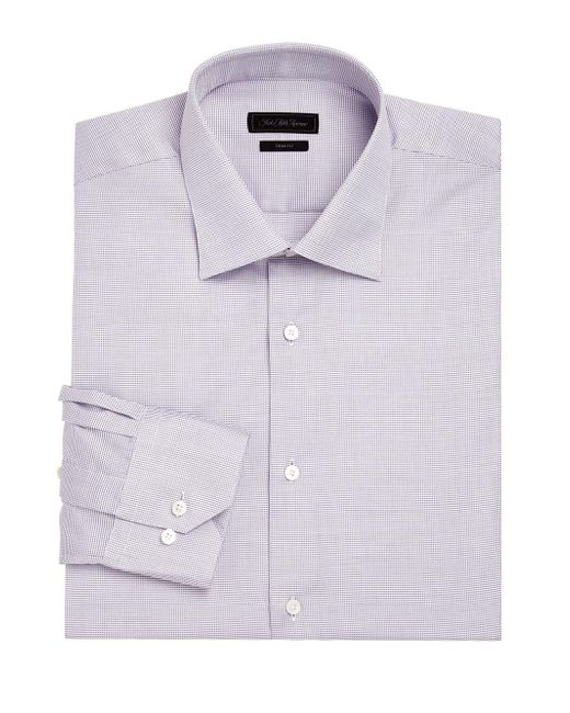 Saks Fifth Avenue - Purple Printed Dress Shirt for Men - Lyst