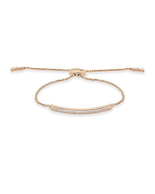 Saks Fifth Avenue - Metallic Diamond Fringe Diamond And 14k Rose Gold Adjustable Bracelet - Lyst