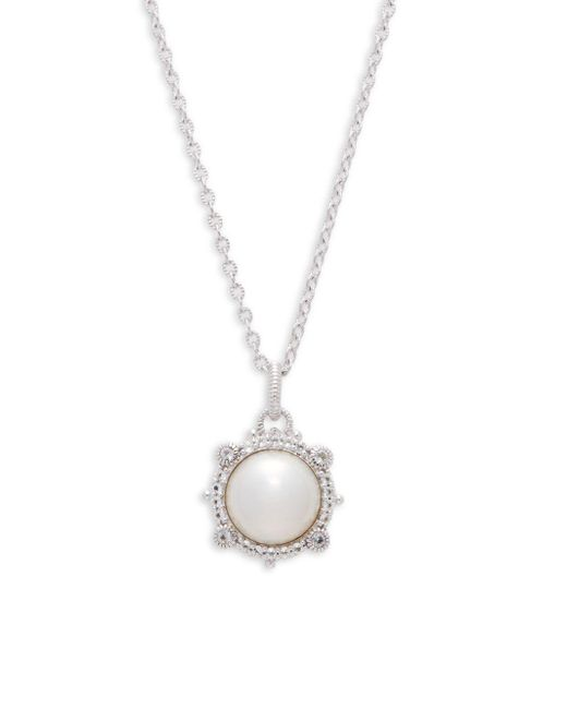 Judith Ripka - Metallic Faux White Pearl & Sterling Silver Pendant Necklace - Lyst