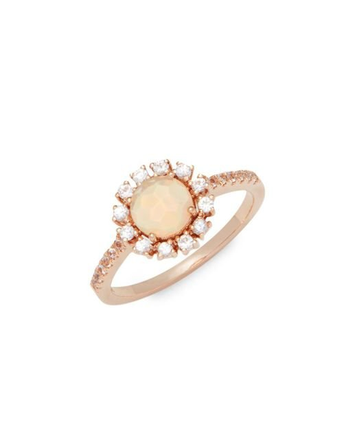 Suzanne Kalan - Metallic White Sapphire, Opal And 14k Rose Gold Ring - Lyst