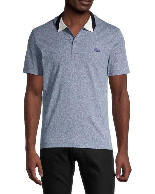 Lacoste Blue Men's Colorblock Collar Polo - Pine - Size 9 (xxxxl) for men