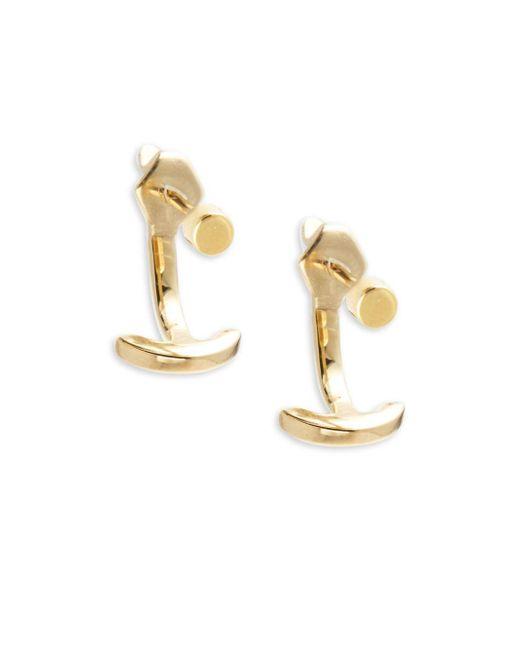 Miansai | Metallic Modern Anchor 18k Gold-plated Sterling Silver Earrings | Lyst
