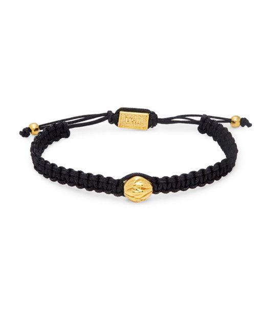 King Baby Studio - Black Brass Bead Macramé Bracelet - Lyst