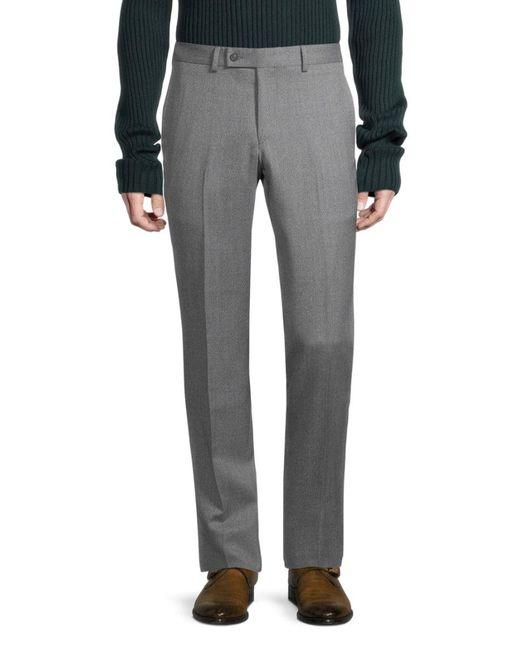 Ted Baker Gray Men's Joey Regular-fit Wool Pants - Grey - Size 38 32 for men