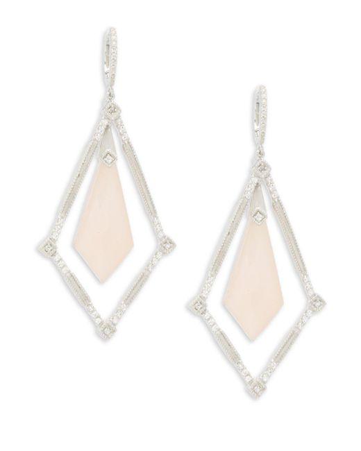 Jude Frances - Pink Encore Sterling Silver Elongated Kite Earrings - Lyst