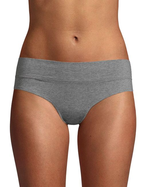 Ava & Aiden Gray Wide Band Low-rise Briefs