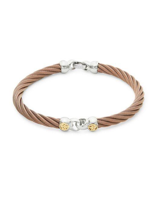 Alor - Metallic 18k Gold & Bronze Cord Bracelet - Lyst