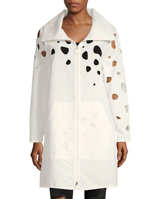 Akris - Multicolor Cut-out Cotton Longline Jacket - Lyst