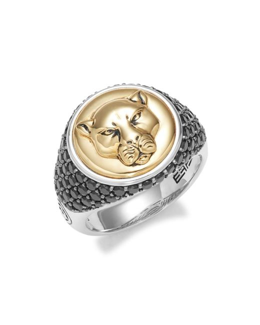 Effy Metallic Men's Goldplated Sterling Silver & Spinel Ring - Size 10