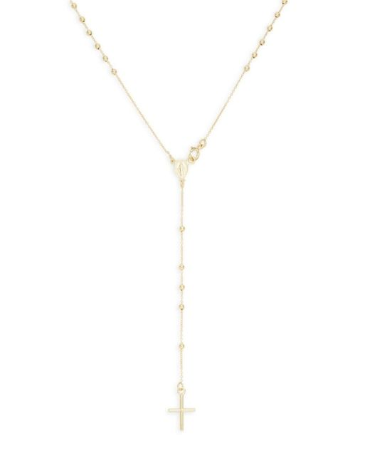 Saks Fifth Avenue Metallic Women's 14k Gold Rosary Y-necklace
