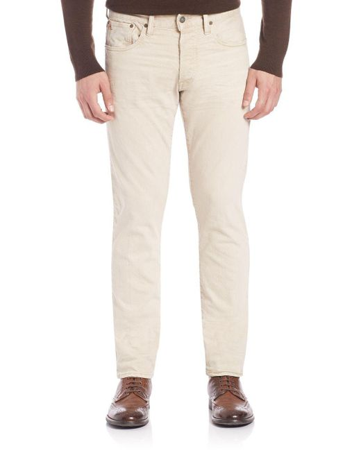 Ralph Lauren - Natural Slim-fit Pants for Men - Lyst