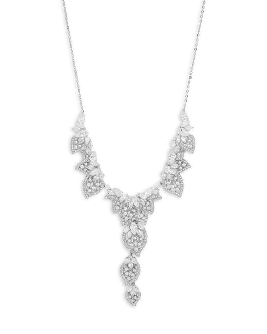 Adriana Orsini - Metallic Crystal Pendant Necklace - Lyst
