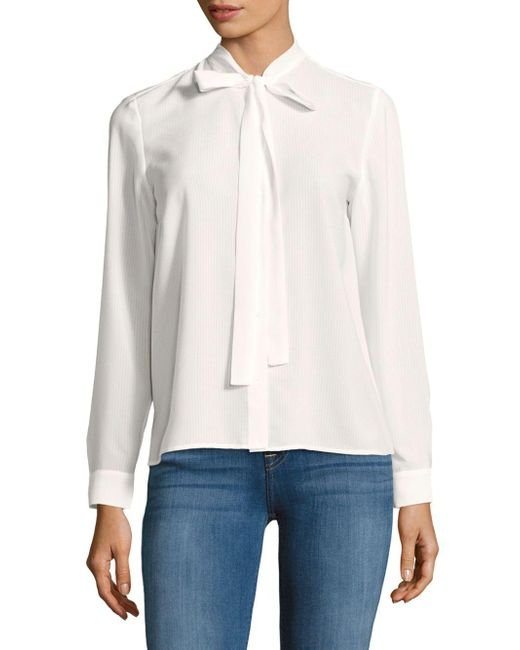 French Connection | White Solid Long-sleeve Top | Lyst