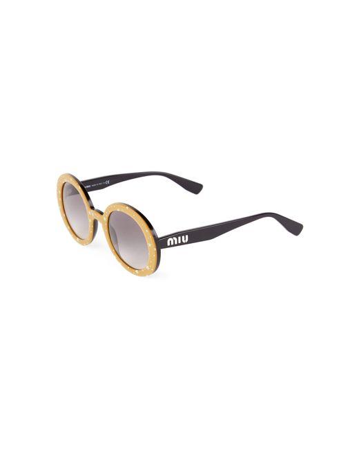 Miu Women's 48mm Star-print Round Sunglasses