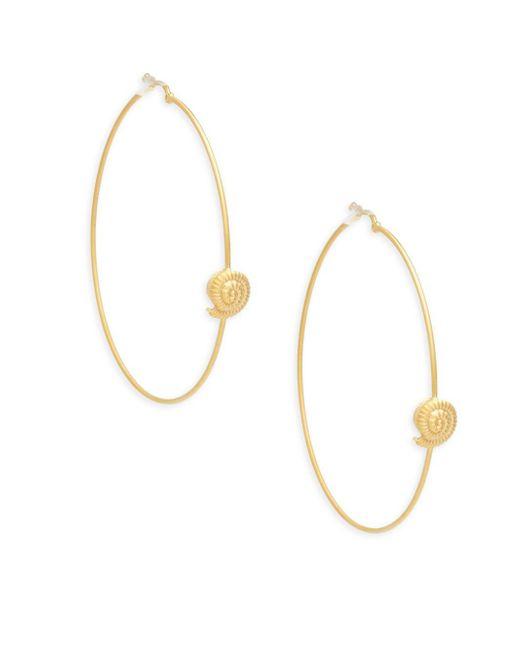 Valentino - Metallic Matte Goldtone Hoop Earrings - Lyst