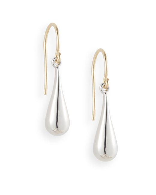 Saks Fifth Avenue | Metallic Sterling Silver Teardrop Earrings | Lyst