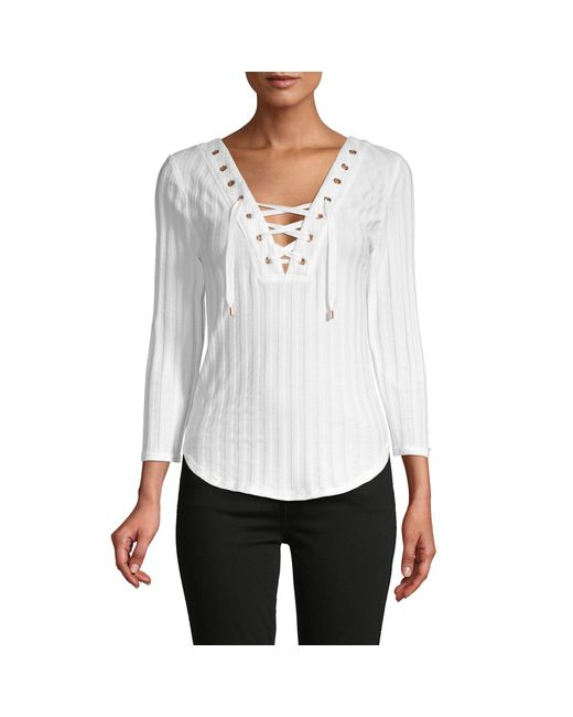 Free People White Ice Cold Top