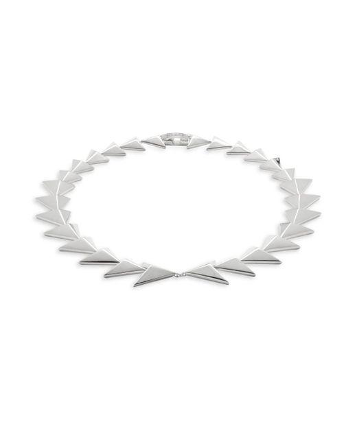 Noir Jewelry - Metallic Two-row Triangle Bracelet- 13in - Lyst
