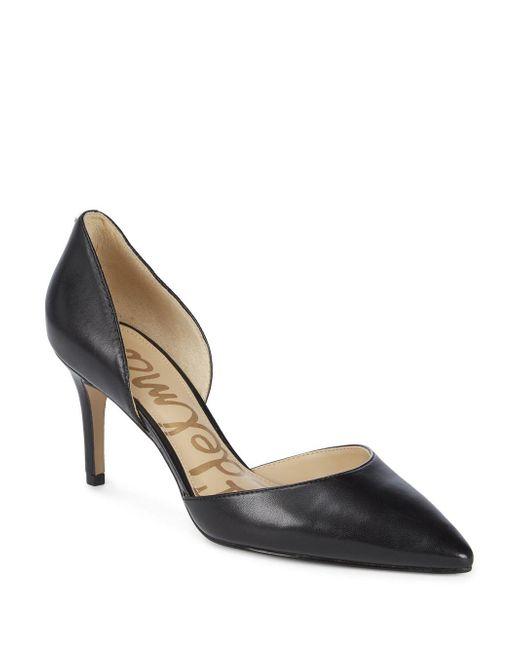 Sam Edelman - Black Telsa Leather Dorsay Pumps - Lyst