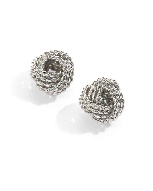 Saks Fifth Avenue - Metallic Sterling Silver Twisted Knot Stud Earrings - Lyst