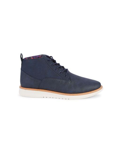 Ben Sherman Blue Omega Chukka Boots for men