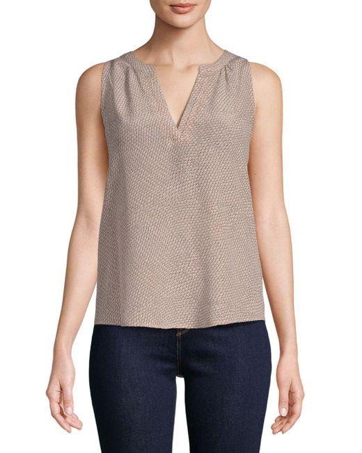 Joie - Multicolor Fifi Silk Sleeveless Tunic Blouse - Lyst