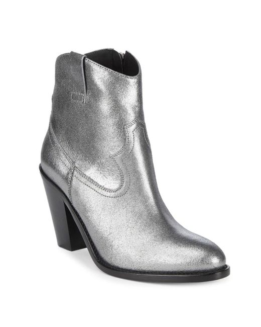 Saint Laurent Metallic Leather Booties sale explore clearance recommend 2014 new sale online free shipping visit H005gCUwlo