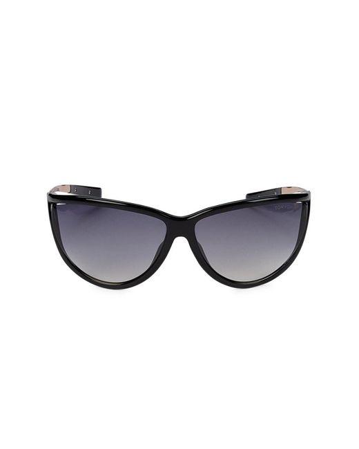 Tom Ford Women's 70mm Cat Eye Sunglasses - Black