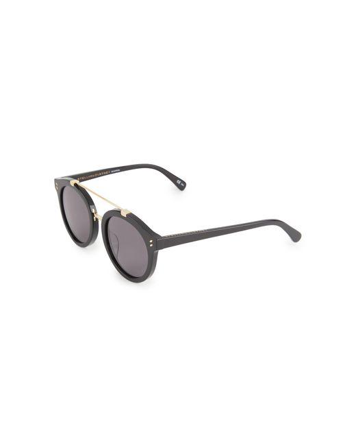 Stella Mccartney Women's Black 51mm Round Browline Sunglasses