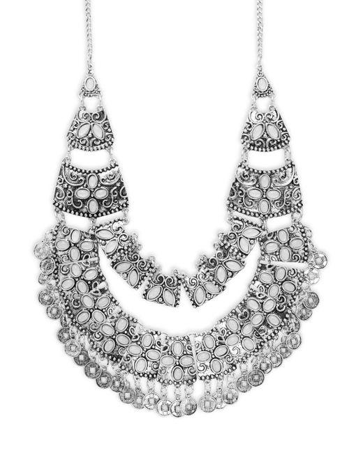 Saks Fifth Avenue | Metallic Embellished Bib Necklace | Lyst
