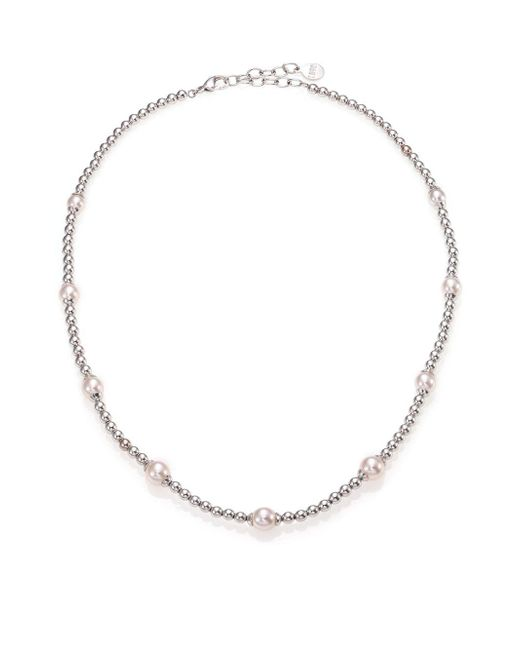 Majorica - Blake 6mm-8mm White Pearl Beaded Necklace - Lyst