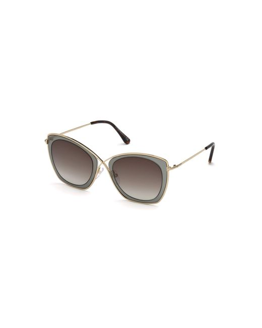Tom Ford Women's Purple India 53mm Butterfly Sunglasses