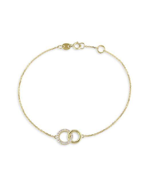 Saks Fifth Avenue Women's 14k Yellow Gold & Diamond Bracelet - Yellow