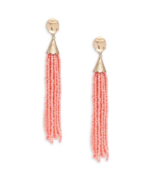 Panacea - Multicolor Beaded Tassel Earrings - Lyst