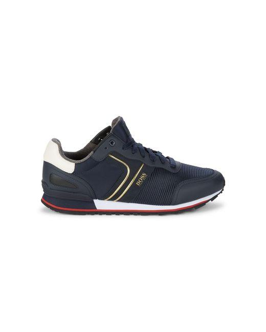 BOSS by Hugo Boss Blue Parkour Runner Sneakers for men