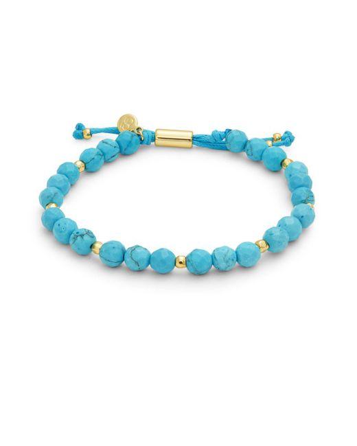 Gorjana - Blue Power Semiprecious Stone Beaded Bracelet - Lyst
