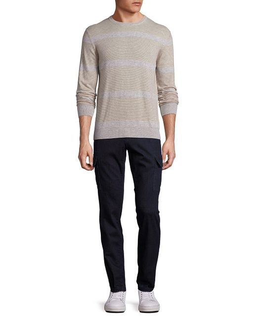 Saks Fifth Avenue | Gray Cashmere Colorblock Sweater for Men | Lyst