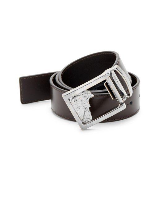 Versace Brown Versace Leather Belt for men