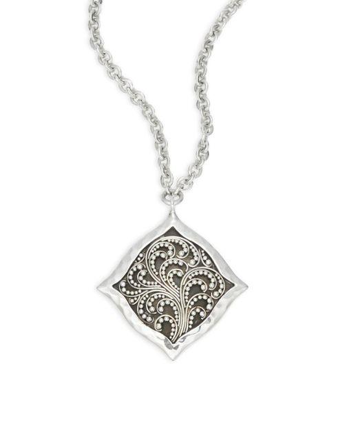 Lois Hill - Metallic Signature Cutout Pendant Necklace - Lyst