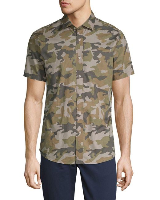 Slate & Stone - Green Camouflage Cotton Button-down Shirt for Men - Lyst