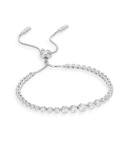 Saks Fifth Avenue - 1.0 Tcw Diamond & 14k White Gold Bracelet - Lyst