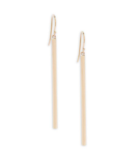 Saks Fifth Avenue - Metallic 14k Gold Hook Drop Earrings - Lyst